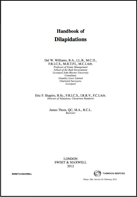 Handbook of dilaps