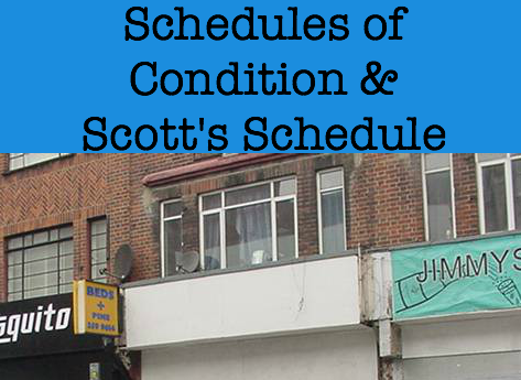 schedules of condition