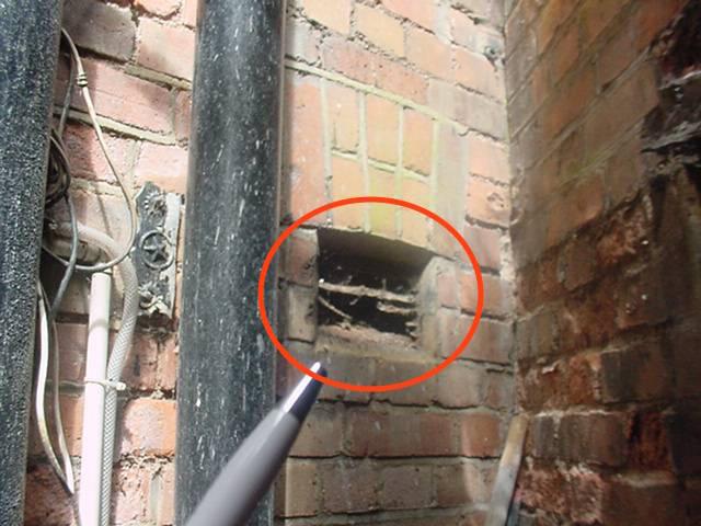 Broken vent